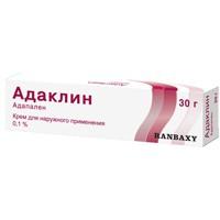 Адаклин, крем д/наружн. прим. 0.1% 30 г №1